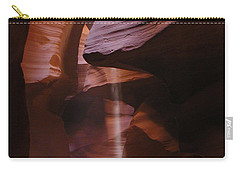 Carry-all Pouch featuring the photograph Antelope Canyon With Light Beam by Alan Socolik