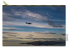 Carry-all Pouch featuring the photograph Antelope Island - Lone Airplane by Ely Arsha