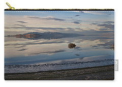 Carry-all Pouch featuring the photograph Antelope Island - Lone Tumble Weed by Ely Arsha