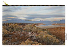 Carry-all Pouch featuring the photograph Antelope Island - Scenic View by Ely Arsha
