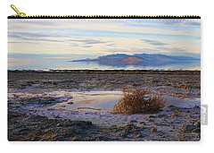 Carry-all Pouch featuring the photograph Antelope Island - Tumble Weed by Ely Arsha