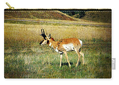 Carry-all Pouch featuring the photograph Antelope by Judy Hall-Folde