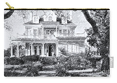 Anthemion At 4631 St Charles Ave. New Orleans Sketch Carry-all Pouch