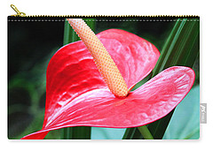 Carry-all Pouch featuring the photograph Anthurium by Mariarosa Rockefeller