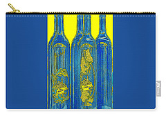 Antibes Blue Bottles Carry-all Pouch