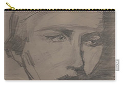 Carry-all Pouch featuring the drawing Antigone By Jrr by First Star Art