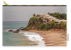 Carry-all Pouch featuring the photograph Antigua Coastline by Gary Slawsky
