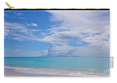 Antigua View Of Montserrat Volcano Carry-all Pouch by Olga Hamilton