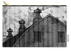 Antique Barn - Black And White Carry-all Pouch