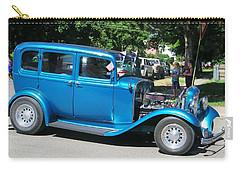 Antique Blue Car Carry-all Pouch
