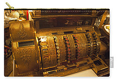 Carry-all Pouch featuring the photograph Antique Cash Register by Jerry Cowart