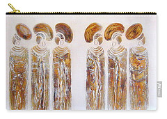 Antique Copper Zulu Ladies - Original Artwork Carry-all Pouch
