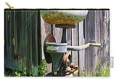 Carry-all Pouch featuring the photograph Antique Cream Separator by Sherman Perry