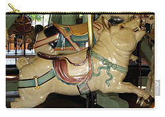 Antique Dentzel Menagerie Carousel Pigs Carry-all Pouch