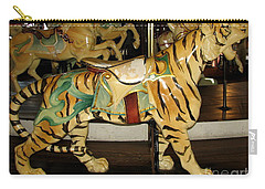Antique Dentzel Menagerie Carousel Tiger Carry-all Pouch