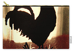 Antique Glass Chicken Silhouette Carry-all Pouch