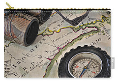 Antique Italian Map Upstate New York Carry-all Pouch