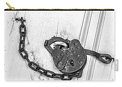 Carry-all Pouch featuring the photograph Antique Lock by Gary Slawsky