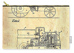 Farm Equipment Drawings Carry-All Pouches