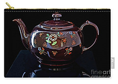 Antique Native American Teapot On Black Art Prints Carry-all Pouch
