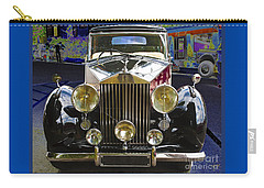 Carry-all Pouch featuring the digital art Antique Rolls Royce by Victoria Harrington