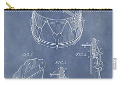 Antique Snare Drum Patent Carry-all Pouch by Dan Sproul