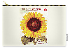 Antique Sunflower Seeds Pack Carry-all Pouch