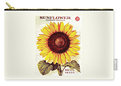 Antique Sunflower Seeds Pack Carry-all Pouch by Peter Gumaer Ogden