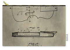 Antique Violin Patent Carry-all Pouch by Dan Sproul
