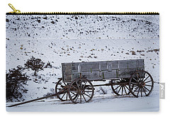 Carry-all Pouch featuring the photograph Antique Wagon by Michael Chatt