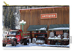 Antiques In The Mountains Carry-all Pouch by Fiona Kennard
