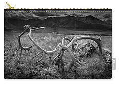 Antlers In Black And White Carry-all Pouch