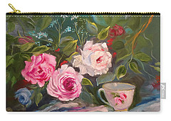 Carry-all Pouch featuring the painting Anyone For Tea? by Jenny Lee