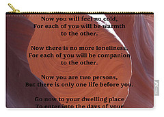 Apache Wedding Blessing On Canyon Photo Carry-all Pouch