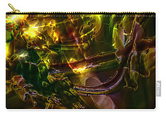 Carry-all Pouch featuring the digital art Apocryphal - Tilting From Beastback by Richard Thomas