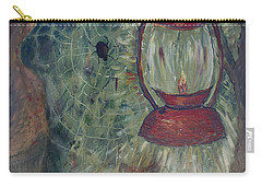 Carry-all Pouch featuring the painting Appalachian Nights  by Avonelle Kelsey