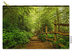Appalachian Trail At Newfound Gap Carry-all Pouch by Stephen Stookey