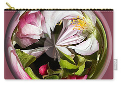 Apple Blossom Globe Carry-all Pouch by Phyllis Denton