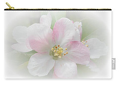 Carry-all Pouch featuring the photograph Apple Blossom by Judy Hall-Folde