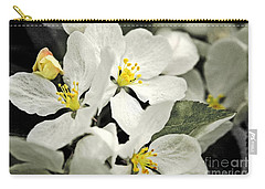 Carry-all Pouch featuring the photograph Apple Blossoms by Alana Ranney