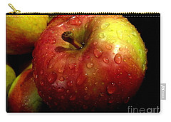 Apple In The Rain Carry-all Pouch