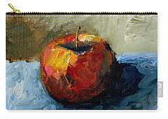 Apple With Olive And Grey Carry-all Pouch