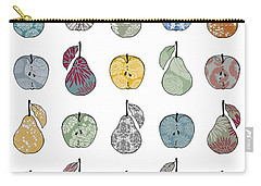 Apples And Pears Carry-all Pouch by Sarah Hough