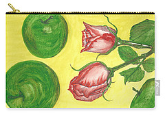 Apples And Roses Carry-all Pouch