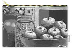 Carry-all Pouch featuring the digital art Apples Four Ways by Carol Jacobs