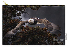 Approaching Eagle-signed- Carry-all Pouch