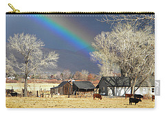 Approaching Storm At Cattle Ranch Carry-all Pouch