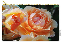 Apricot Dahlias Carry-all Pouch by Kathy McClure