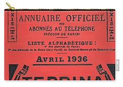 April In Paris 1936 Carry-all Pouch