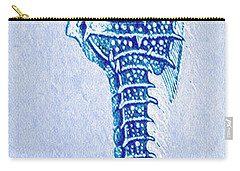 Carry-all Pouch featuring the digital art Aqua Seahorse- Left by Jane Schnetlage